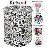 KETSAAL Pop-Up Round Polycotton Laundry Bag(39X39X42cm, Multicolour)