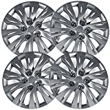 #4: Hubcaps for Toyota Camry (Pack of 4) Wheel Covers - 16 Inch Silver Replacement