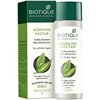 Biotique Morning Nectar Flawless Skin moisturizer for All Skin Types, 190ml