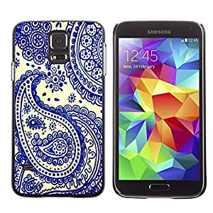Planetar® ( Blue China India Cards Poker ) Samsung Galaxy S5 Handyhülle Schale Hart Silikon Hülle Schutzhülle Case