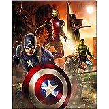 Marvel Kuscheldecke Avengers 110 x 140 cm - Neu & Ovp - Decke - Fleecedecke - Schmusedecke - Autokuscheldecke - Tagesdecke - Captain America - Iron Man - Thor - Hulk - Hawkeye - Black Widow - Loki - Falcon - The First Avenger - Civil War - Age of Ultron