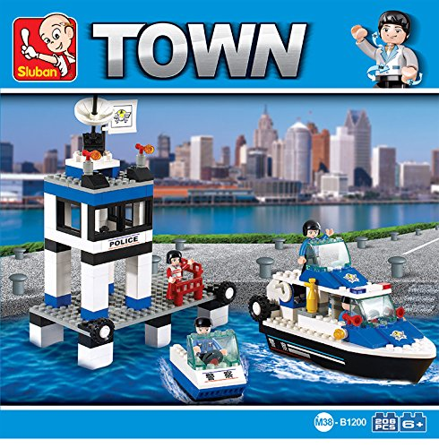 Sluban CITY POLICE-206PCS ( M38-B1200 ) (Lego compatible)  available at amazon for Rs.1075