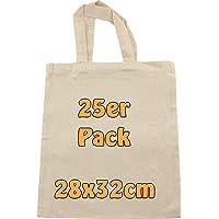Cottonbagjoe | Baumwolltaschen zum Bemalen | 28x32 cm | Stoffbeutel | DIY | Bauwollbeutel | kurze Henkel | DIN A4…