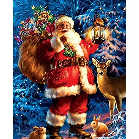 Merry Christmas, Santa Claus Sending Gifts Crystal Diamond Painting Nice Gift for Kid for Christmas Time by