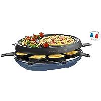 TEFAL Raclette Colormania 3-en-1 Appareil à Raclette Grill et Crêpe Revêtement Antiadhésif Easy Plus 8 Coupelles…