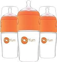 PopYum 9 oz Anti-Colic Formula Making/Mixing/Dispenser Baby Bottles, 3-Pack