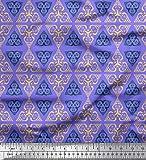 Soimoi Lila schwere Leinwand Stoff Dreieck Art geometrisch