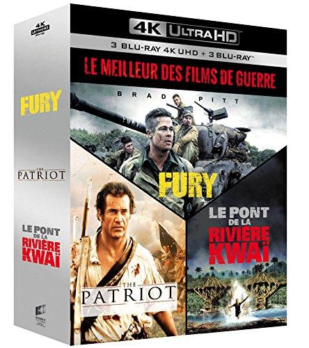Le Meilleur des films de guerre - Coffret : Fury + The Patriot + Le Pont de la rivière Kwaï [4K Ultra HD + Blu-ray]