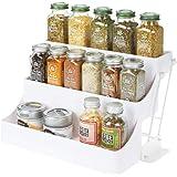 mDesign rangement à épices à 3 étages pour le placard de la cuisine – organiseur de cuisine pratique en plastique sans BPA à