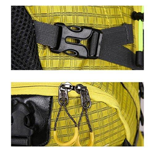Z&N Grande Capacità 40L Borsa A Tracolla All'Aperto Adolescenti Zaino Sportivo Nylon Impermeabile Alpinismo Sacco Campeggio Sacco Computer Portatile Borsa Studenti Universitari Daypacks B 40L D