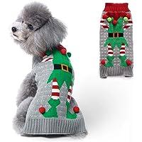 PETCARE Hundepullover Weihnachten Hund Rollkragenpullover Weihnachten Muster Strickwaren warme Haustier Pullover für…