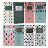 Shulaner Small Notebook Pages Vierges Mini Cahier Petit Bloc-notes, 6.8*3.5 inch, Lot de 8