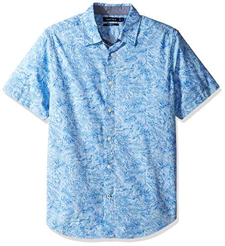 Nautica Unisex-Erwachsene Kurzarm Button Down Hemd - Blau - XX-Large - Nautica Herren Hemd