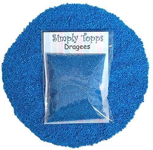 Blaue Mini Zucker Kugeln 30g (ca. 1mm Durchmesser) für Kuchen und Muffin Dekoration (Kugeln Blaue Dekorationen)