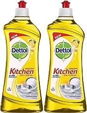 Dettol Kitchen Dish and Slab Gel Lemon Fresh - 750 ml (Pack of 2)