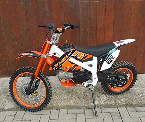 125ccm dirtbike pitbike 4 takt 4 gang manuell 17 14 zoll orange 125cc motor enduro cross bike. Black Bedroom Furniture Sets. Home Design Ideas