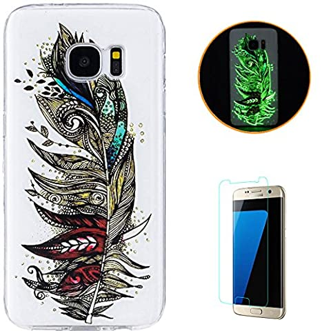 KaseHom Coque Samsung Galaxy S7 Couvrir Effet lumineux Très mince