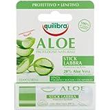 Equilibra Viso, Aloe Stick Labbra, Stick Labbra a Base di Aloe Vera, Idratante Labbra che Crea un Velo Protettivo Contro…
