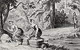 Ken Welsh / Design Pics – Washerwomen Disturbed By Waverley Engraving By George Cruikshank Dated 1842 Of A Scene From Sir Walter Scott's Novel Waverley Photo Print (91,44 x 55,88 cm)