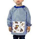 KLOTTZ - Babi sin botones bolsillo tela Mickey para guardería niños