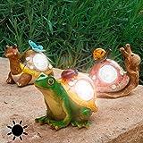 figura solar decorativa para jardines caracol