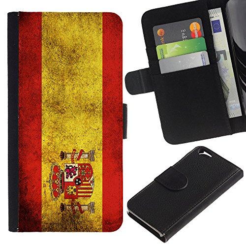 Graphic4You Vintage Uralt Flagge Von Schottland Schottisch Design Brieftasche Leder Hülle Case Schutzhülle für Apple iPhone 6 / 6S Spanien Spanisch