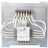 Anschlussfertige Sat-Verteilung mit Multischalter - fix und fertig vormontiert (auf Montageplatte 40x40 cm, mit Jultec JRM0508A)