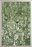 Fallout 4 - Compilation Game Videospiel - Poster Plakat Druck - Grösse 61x91,5 cm + Wechselrahmen der Marke Shinsuke Maxi aus Edlem Aluminium (ALU) Profil: 30mm Silber