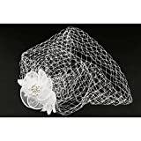 Léon montane Acessoires cheveux mariage blanc avec fleurs - Blanc Taille unique