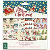 "Helz Cuppleditch FSC - Blocco di carta natalizia da découpage ""The Night Before Christmas"""