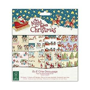 """Helz Cuppleditch FSC - Blocco di carta natalizia da découpage """"The Night Before Christmas"""""""