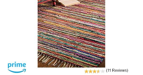 Tappeti In Tessuto Riciclato : Tappeto 100% cotone riciclato multicolore fatto a mano stile