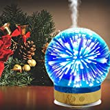 Sundlight 100ml Essential Oil Diffuser, Ultrasonic Aroma Cool Mist Humidifier Waterless Auto Shut-off with 3D 16 Color Changing