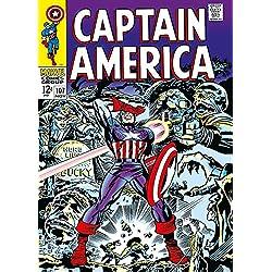 Capitán América metálico Póster, multicolor, 50x 70cm