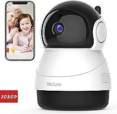 Victure 1080P FHD WLAN IP Kamera,Überwachungskamera mit Nachtsicht, Bewegungserkennung, Zwei-Wege Audio,Sicherheitskamera Home Indoor-Kamera für Haustier/Baby Monitor