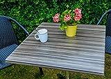 Unbekannt VARILANDO® 80x80 cm Tischplatte aus Werzalit in drei Farben zur Wahl Gartentisch-Platte (Grau)