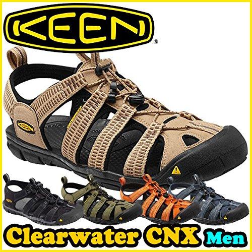 KEEN Mens Men Clearwater CNX Schwarz/Grau Sportliche Sandalen 42