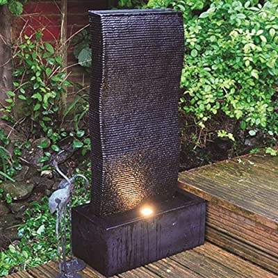 Tall Ripple Effect Garden Water Feature Fountain with LED light OGD157