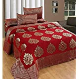 Innovative Edge Bedsheets For Double Bed(Premium Chenille 1 Double Bedsheet With 2 Pillow Cover, Size -Bedsheet- 230X250 Cms, Pillow -45X70 Cms)