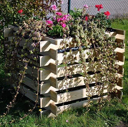 Kiehn-Holz massiver Pflanzkasten