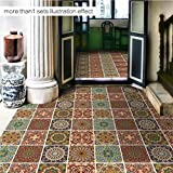 MI-RAN J Küche Schlafzimmer Wohnzimmer Boden PVC-Aufkleber, selbstklebend, 50cm*50cm*4pcs, DB039, as picture