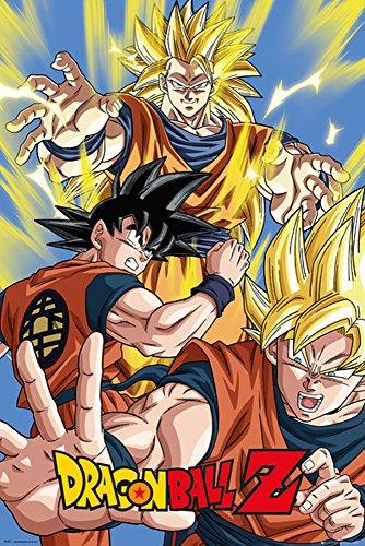 Dragon Ball Z Son Goku - Manga Anime Poster Plakat Druck- Größe 61x91,5 cm (Ball Große Poster Dragon Z)