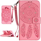 P&A Coque Samsung A3 (2016)SM-A310F,Bling Bling Rose Etui Housse (Gaufrage) Pour Samsung Galaxy A3 (2016) SM-A310F YH004
