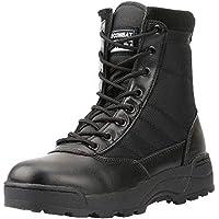 Stivaletti da Moto per Uomo Primavera Autunno Scarpe da Allenamento Outdoor High Top Casual Vintage Zipper Desert Boots…