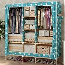 Einfache Tuch Kleiderschrank Oxford Tuch Kleiderschrank Montage Schlafsaal Familie Schlafzimmer Tuch Kleiderschrank , p , wide 150cm* deep 45cm* high 170cm
