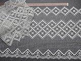 Gardinen Borte 30cm hoch mit Muster in natur Hochglanzgarn