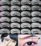 24-teiliges Augenbrauen Schablonen Set Augenbrauen Formen
