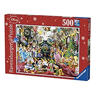 Ravensburger Disney Christmas Train Puzzle - Rompecabezas (Rompecabezas para Suelo, Dibujos, Niños, Disney, 10 año(s), 490 mm)