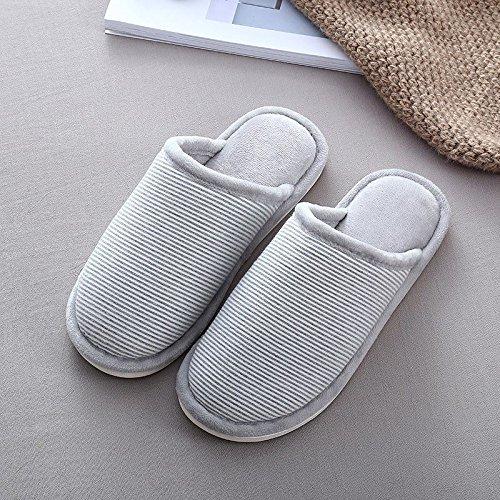 LaxBa Donna Uomo Indoor pattino antiscivolo pantofole Gli uomini di colore grigio