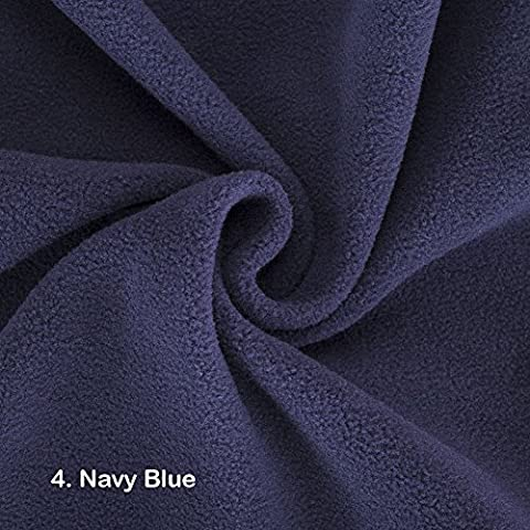 Polar Fleece Fat Squares Fabric, Quality Material, International Approved Test Report for Anti Pill Finish. 21 Colours, 50 x 75cms Pieces. Beautiful Plush Pile for garments, home décor & crafts. - 4. Navy Blue - Fat Square